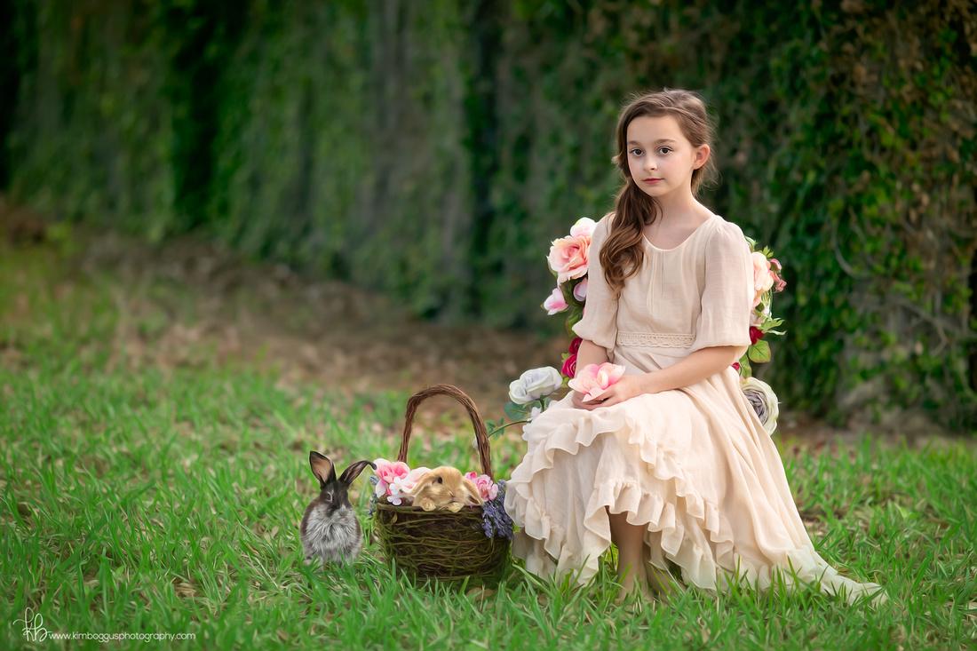 Happy Easter! Spring portraits, secret garden, McAllen Texas children's photographer, family photography