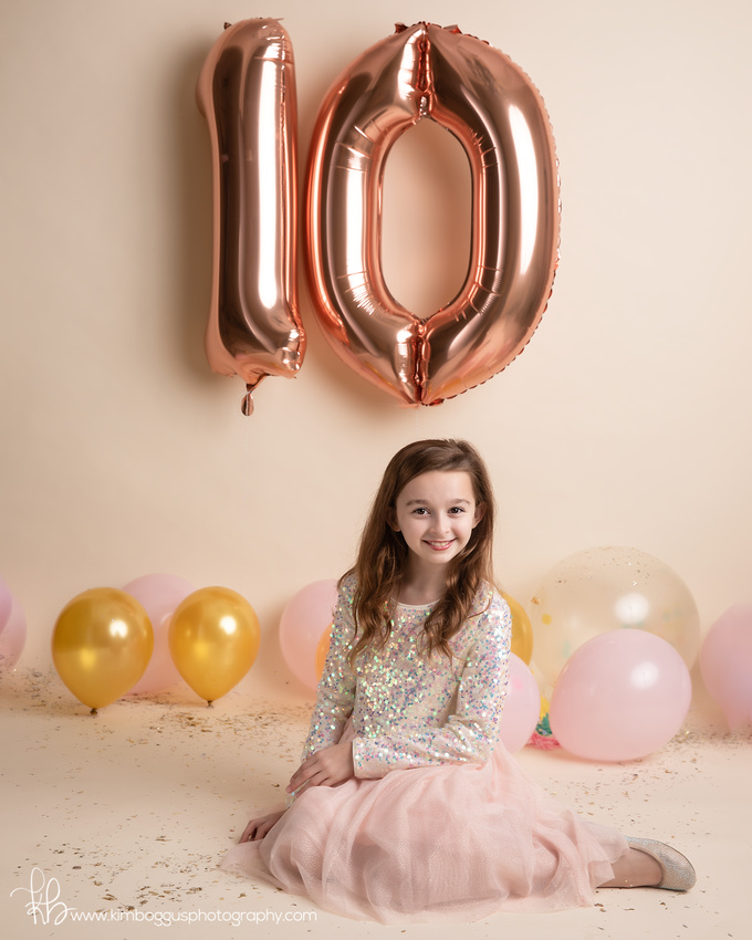 Children's portrait photography, McAllen Texas, Birthday shoot, birthday celebration, confetti session, kids photographer,